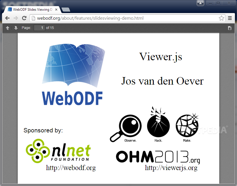 WebODF - WebODF can be used to embed ODF files in Web pages