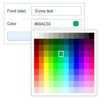 Webix - A color picker is also included with the Webix core