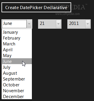 WinJS - Date and time pickers can be created as well
