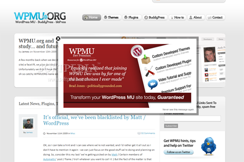 WordPress PopUp - Showing a popup on the site
