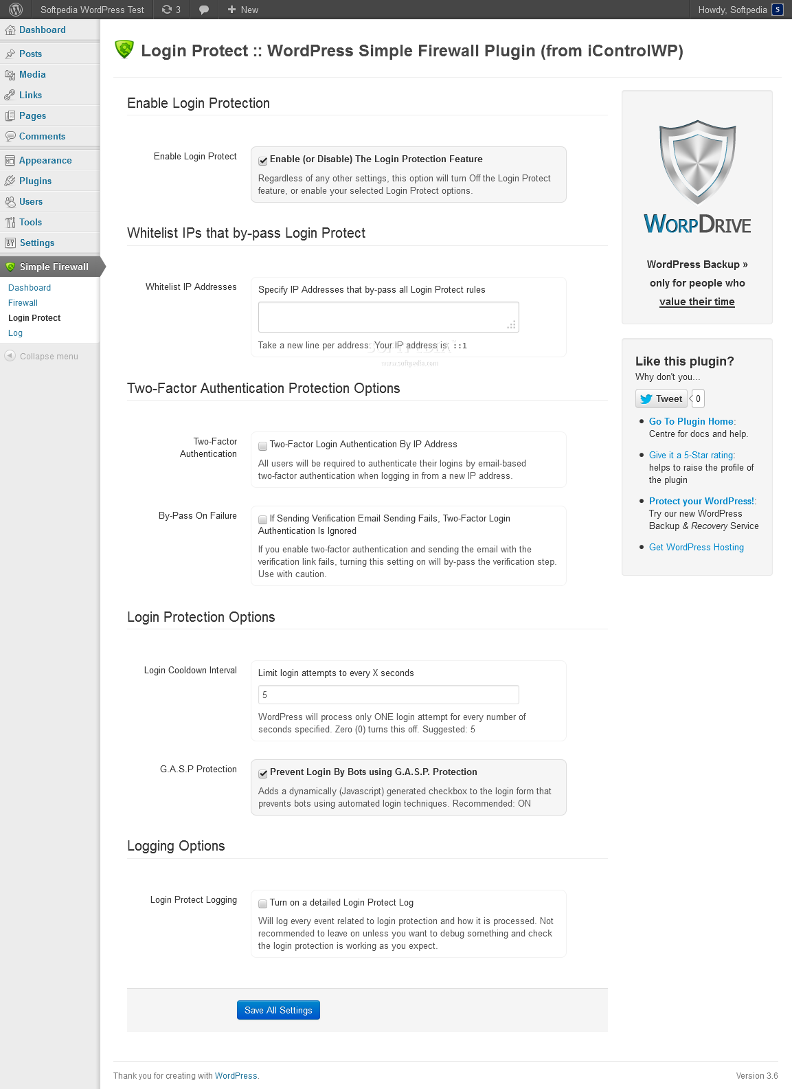 WordPress Simple Security Firewall - WordPress Simple Firewall also allows admins to improve login page security