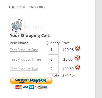 WordPress Simple Paypal Shopping Cart - The shopping cart widget helps the user keep track of purchased products