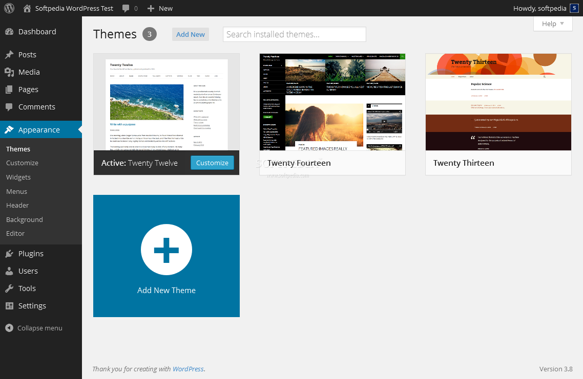 WordPress - Themes can be installed to customize a WordPress installation