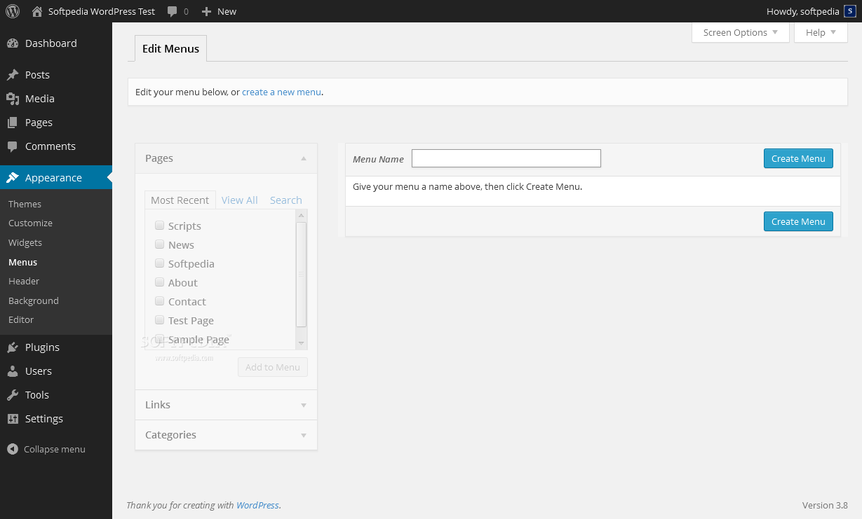 WordPress - A menu manager also ships with WordPress
