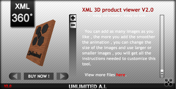 XML 3D Product Viewer screenshot 1