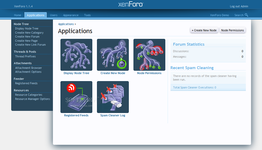 XenForo - XenForo supports add-ons and applications on top of its core