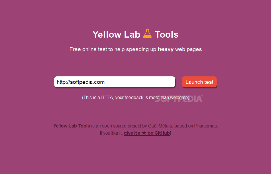 Yellow Lab Tools - Yellow Lab Tools is a website performance testing utility