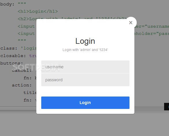 basicModal - Other modal windows with custom layouts can also be created