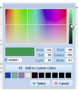dhtmlxColorPicker - Picking a color for later usage