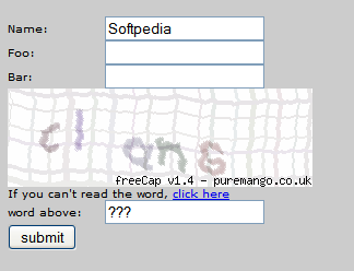 free PHP CAPTCHA screenshot 1