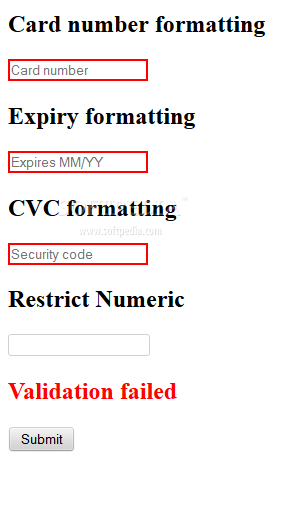 jQuery Payment - jQuery Payment allows easy validation of credit card numbers via JavaScript