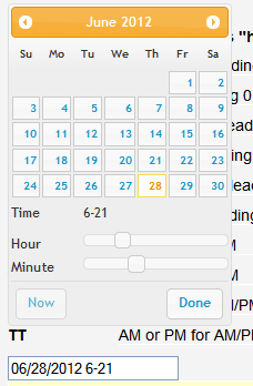 jQuery Timepicker Addon - The jQuery Timepicker Addon can show a calendar with date and time options