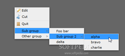 jQuery contextMenu - Multiple menu levels can be nested in complex structures