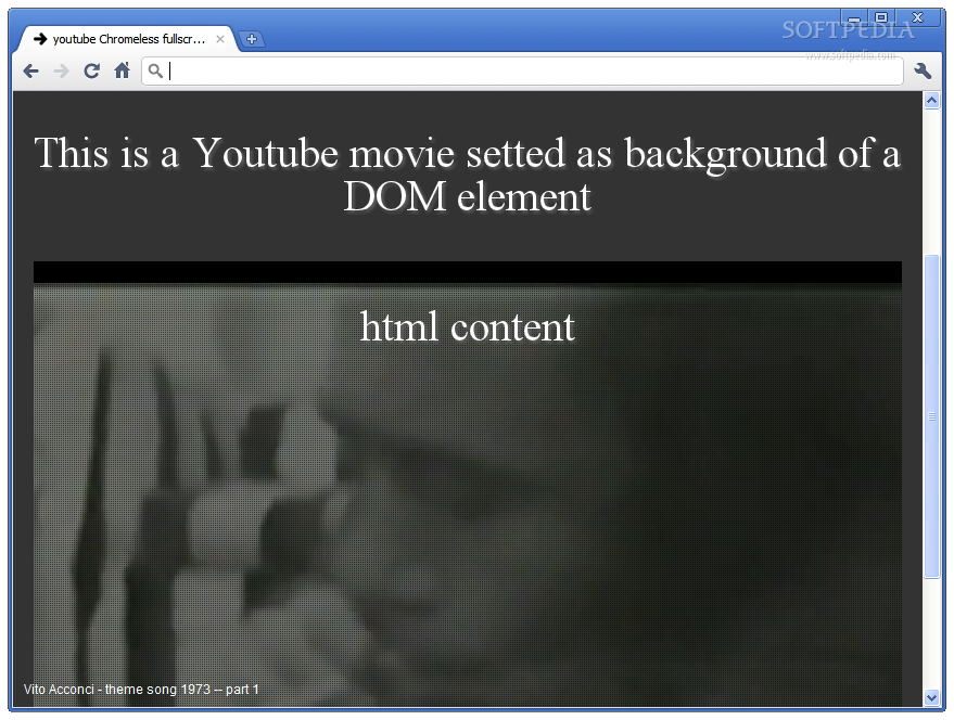 jquery.mb.YTPlayer - jquery.mb.YTPlayer also enables setting a YouTube video as the background of a DIV