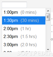 jquery.timepicker - Besides allowing users to select a time value, durations can be shown next to each value as well