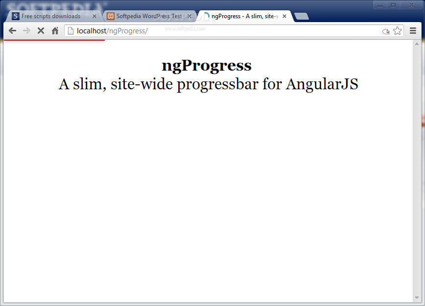 ngProgress - ngProgress will show a progress line as the page slowly loads (just like on YouTube)