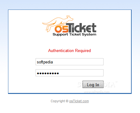 osTicket - The osTicket admin panel is protected by an user&password login field