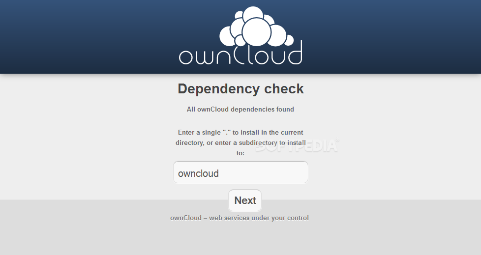 ownCloud - An installation wizard will help administrators install ownCloud on their servers