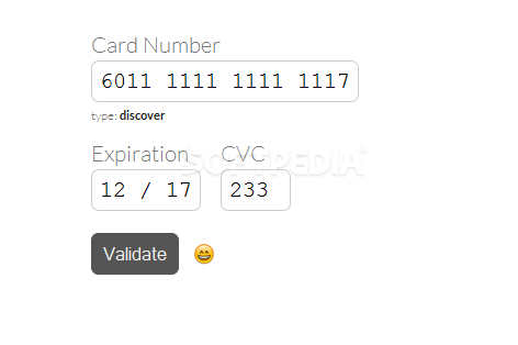 payform - payform can help developers validate credit card numbers without using a server-side script