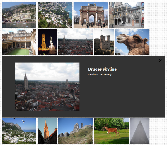 photoWall.js - Clicking on an image, will enlarge it, just like on the Google Images website