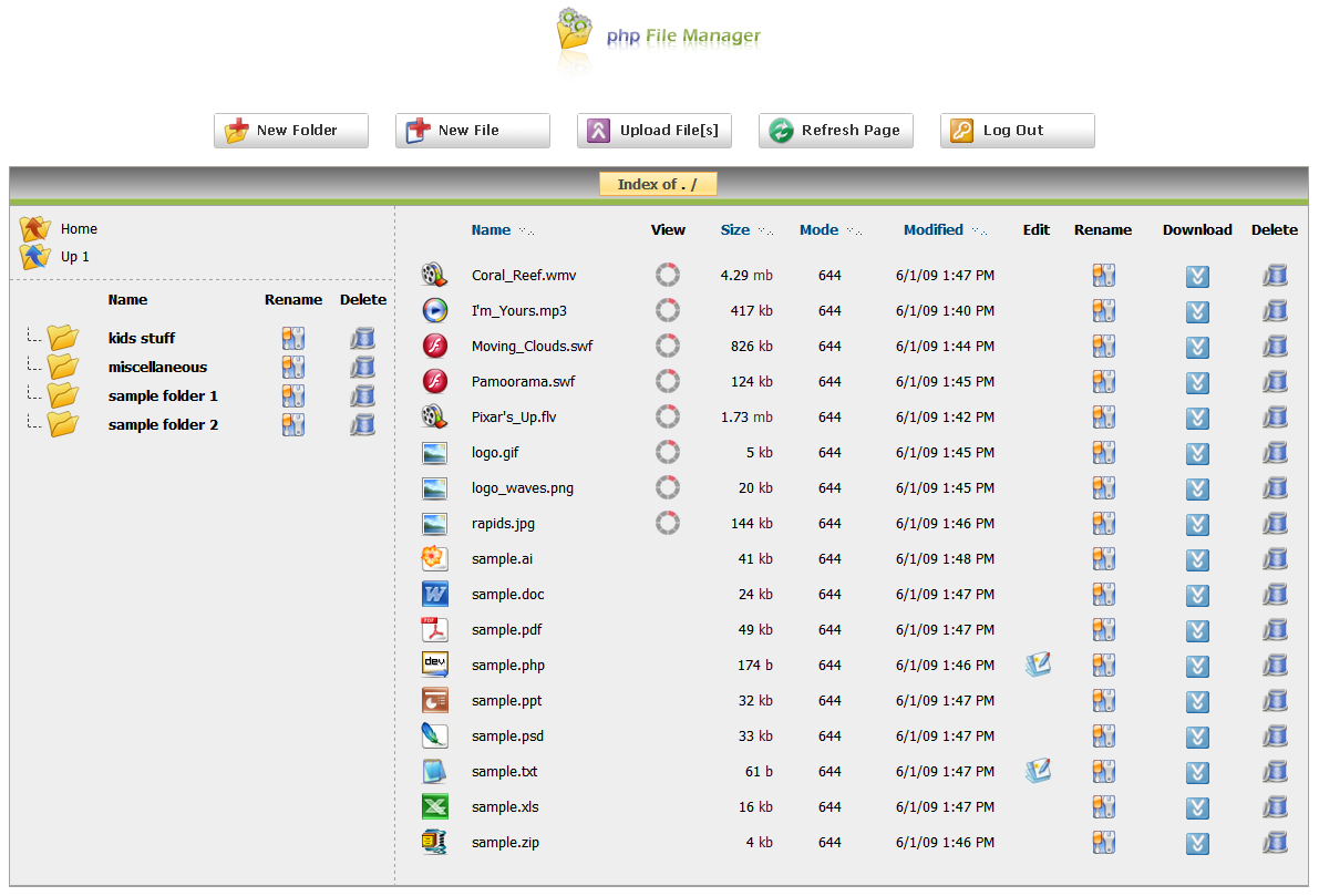 php File Manager screenshot 2