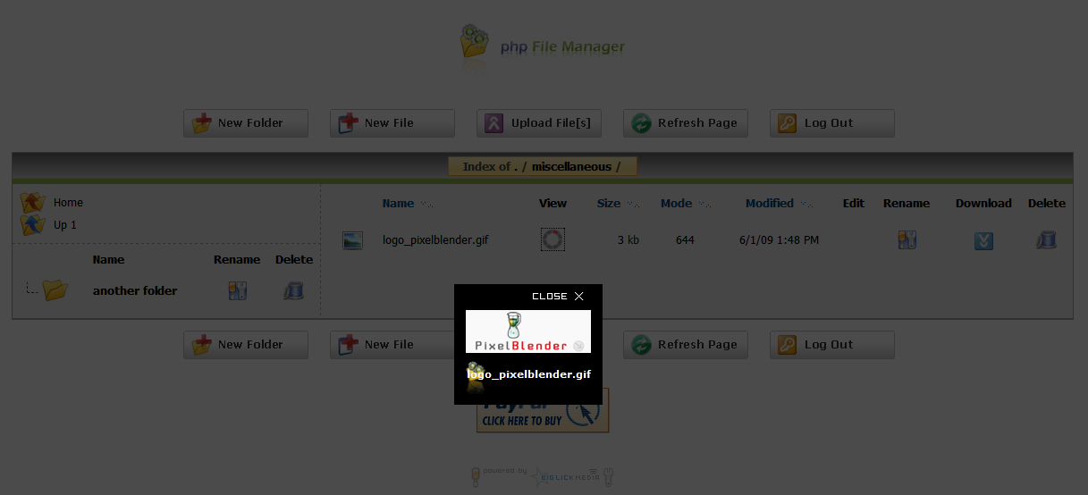 php File Manager screenshot 3