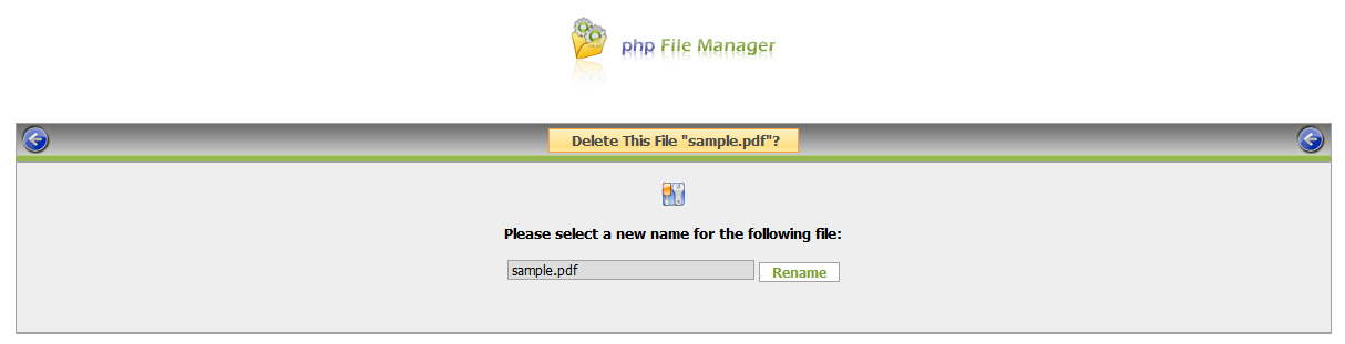 php File Manager screenshot 5