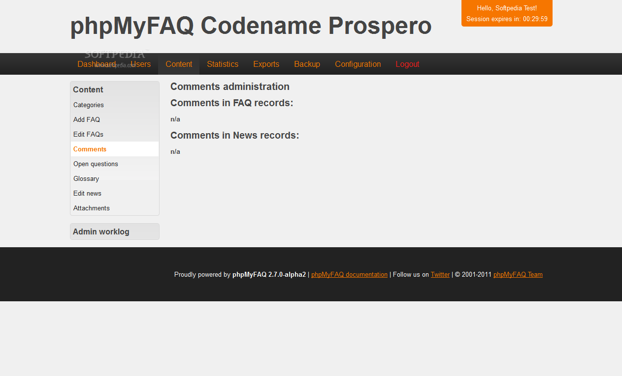 phpMyFAQ - Comment moderation