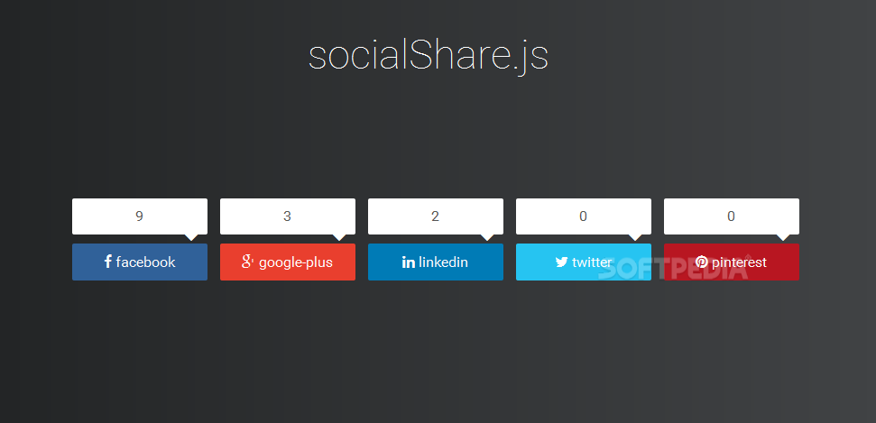 socialShare.js - socialShare.js lets developers add a social sharing toolkit to their sites